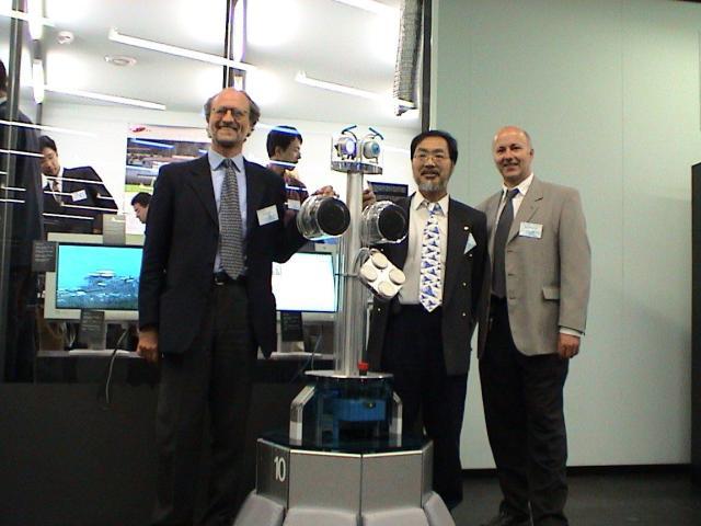 Paolo Dario, RoboX, Toshio Fukuda and Roland Siegwart